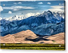 Acrylic Print featuring the digital art Great Sand Dunes Summer by Brian Davis