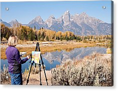 Great Workplace Acrylic Print by Bob and Nancy Kendrick