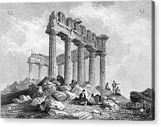 Greece: The Parthenon 1833 Acrylic Print by Granger