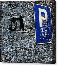 #greece #urban #street #citylife Acrylic Print