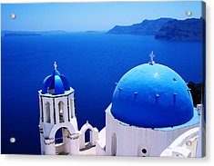 Greek Blue Acrylic Print