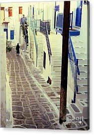Greek Island Acrylic Print by Ranjini Kandasamy