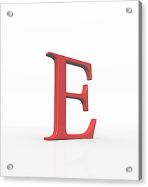 Greek Letter Epsilon, Upper Case Acrylic Print by David Parker