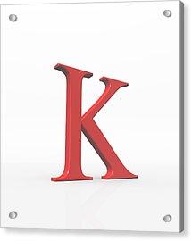 Greek Letter Kappa, Upper Case Acrylic Print by David Parker