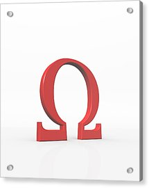 Greek Letter Omega, Upper Case Acrylic Print by David Parker