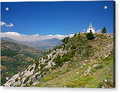 Greek Mountain Church Acrylic Print