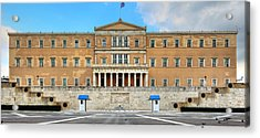 Greek Parliament Acrylic Print by Constantinos Iliopoulos