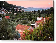 Greek Village  Acrylic Print by Emmanuel Panagiotakis