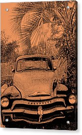 Greeks Truck Acrylic Print by Gerald Cooley