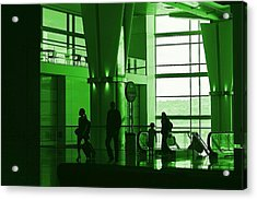 Green Airport Acrylic Print by Ron Morales