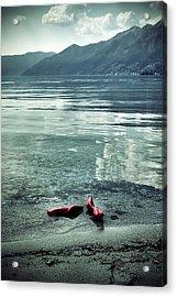 Green And Red Acrylic Print by Joana Kruse