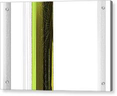 Green And White Acrylic Print by Naxart Studio
