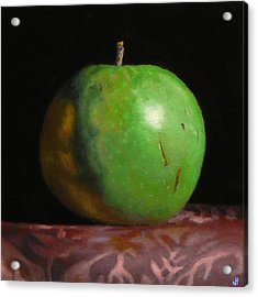 Green Apple Number 4 Acrylic Print by Jeffrey Hayes