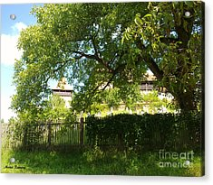 Acrylic Print featuring the photograph Green Arch by Ramona Matei