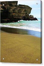Green Beach Acrylic Print by James Mancini Heath