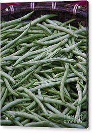 Green Beans Acrylic Print by David Buffington