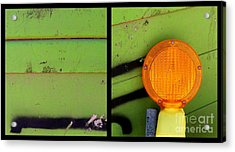 Green Bein' Acrylic Print by Marlene Burns