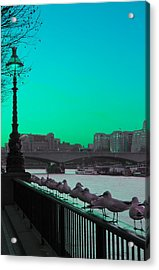 Green Day In London Acrylic Print by Jasna Buncic