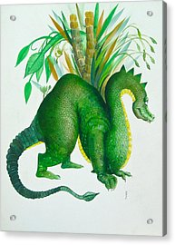 Green Dragon Acrylic Print by Richard Yoakam