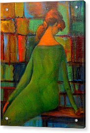 Green Dress Acrylic Print