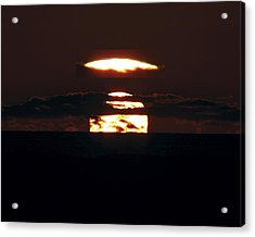 Green Flash At Sunset Acrylic Print by Laurent Laveder