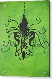 Green Fleur De Chandelier Acrylic Print by Marian Hebert