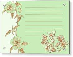 Green Floral Card Acrylic Print