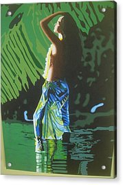 Green Goddess Acrylic Print by Alix Barker