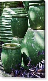 Green Grouping 2 Acrylic Print by Teresa Mucha