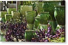 Green Grouping Acrylic Print by Teresa Mucha
