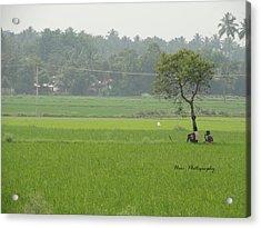 Green Acrylic Print by Hari Ram