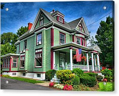 Green House Acrylic Print by Steven Ainsworth