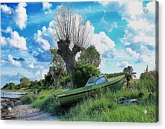 Green Is The Word Acrylic Print