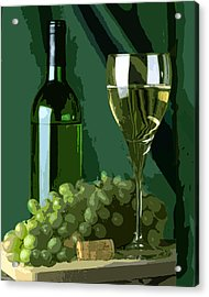 Green Is White Acrylic Print by Elaine Plesser