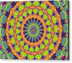 Green Kalidescope Acrylic Print by Rosalie Scanlon