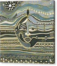 Green Maya Acrylic Print