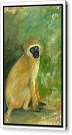 Green Monkey Acrylic Print by Barbara Marcus