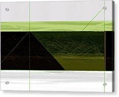 Green Mountain Acrylic Print by Naxart Studio