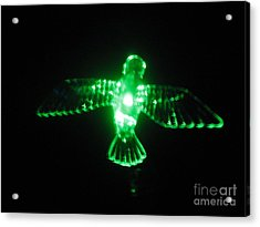 Green Neon In Flight Acrylic Print