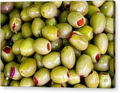 Acrylic Print featuring the photograph Green Olives by Leslie Leda