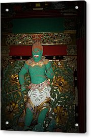 Green Sculpture Acrylic Print