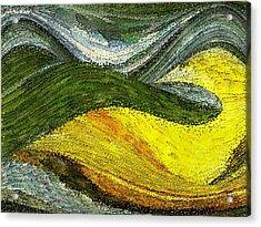 Green Sea Acrylic Print by Tinatin Dalakishvili