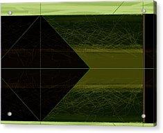 Green Square Acrylic Print by Naxart Studio