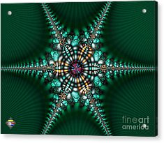 Green Starone Acrylic Print by Vidka Art