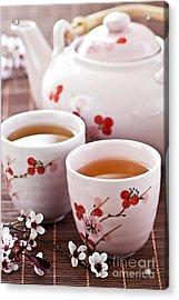Green Tea Set Acrylic Print by Elena Elisseeva