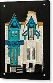 Green Victorian Mansion-montreal Acrylic Print