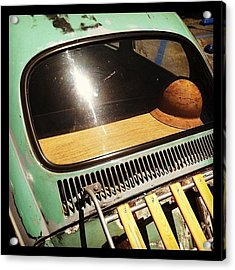 Green Vw Acrylic Print by Gwyn Newcombe