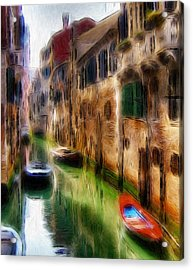 Green Water  Acrylic Print by Steve K