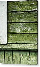 Acrylic Print featuring the photograph Green Wooden Wall by Agnieszka Kubica