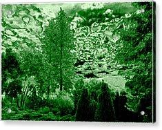 Green Zone Acrylic Print by Will Borden